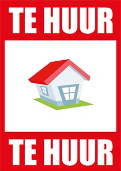 Te huur poster voor het verhuren van een huis.