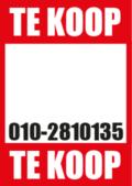 te koop poster met eigen telefoonnummer