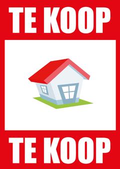 Te Koop poster voor het verkopen van vastgoed