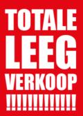 Poster Totale Leegverkoop Raambiljet