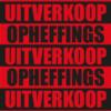 Rode Opheffingsuitverkoop poster