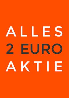 Uitverkoopposter met de tekst Alles 2 Euro Aktie
