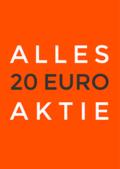 Aktieposter met de tekst Alles 20 euro