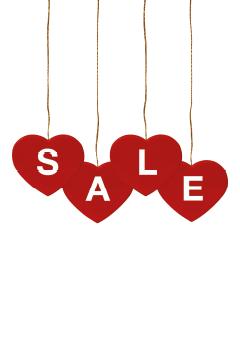 Valentijnsdag raamposter voor retail