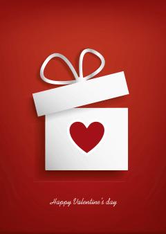 Sale-poster voor Valentijnsdag