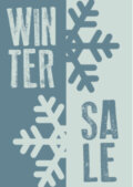 Raamposter wintersale