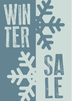 Raamposter wintersale